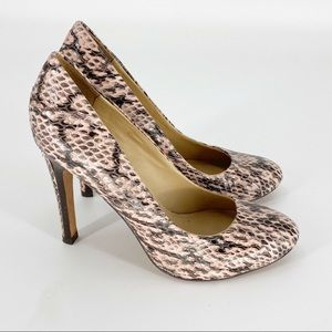 POUR LA VICTOIRE Snakeskin Heels Pump Size 7.5